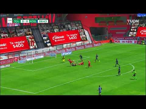 Toluca [1] - 0 Atletico San Luis (M. Estrada 7')