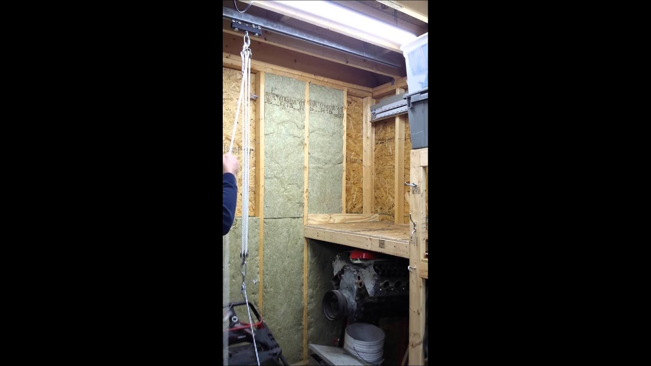 Lawnmower snowblower storage youtube for Small lawnmower shed