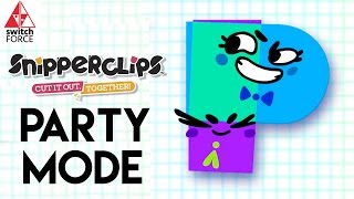 SnipperClips Gameplay - Party Mode Challenges (Nintendo Switch Gameplay)