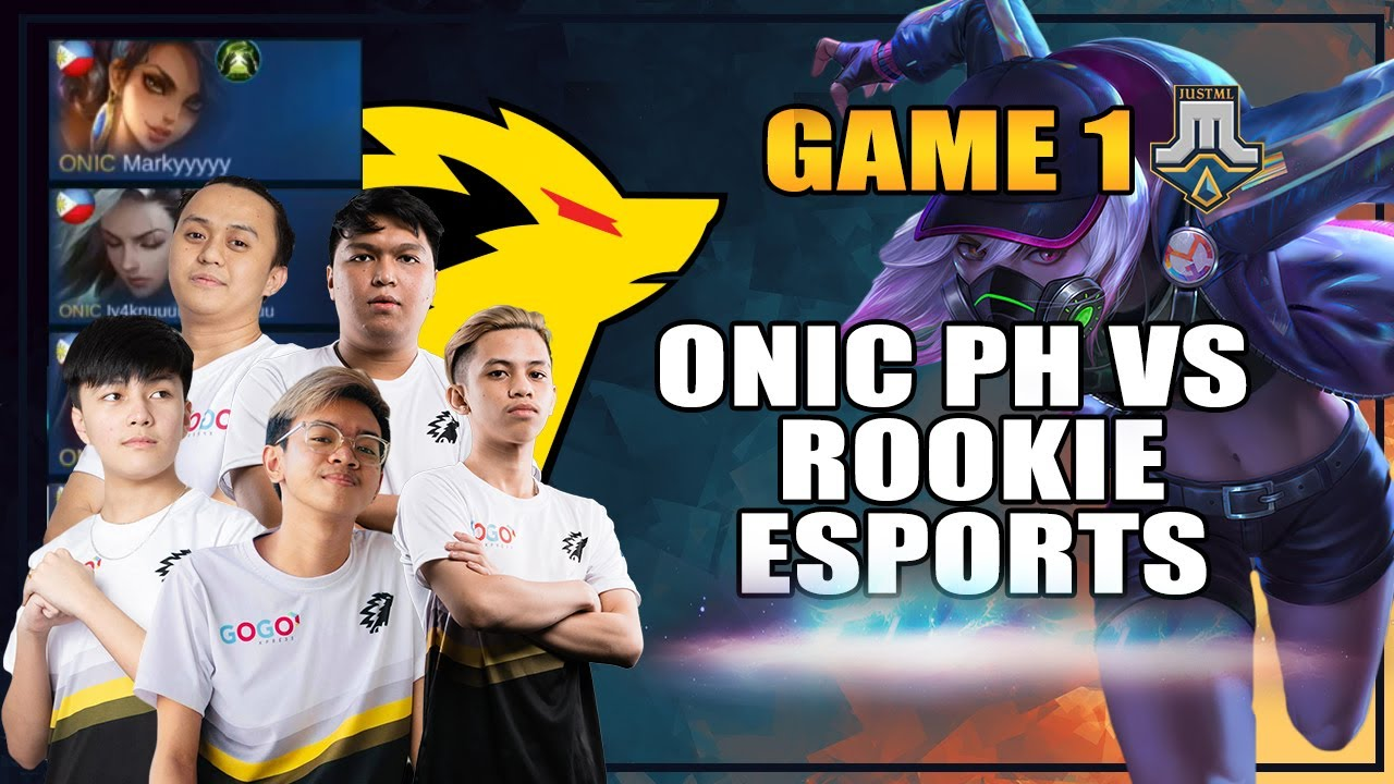 ONIC PH vs ROOKIE ESPORTS GAME 1 JUSTML LEAUGE