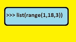 Python Ranges, and Lists