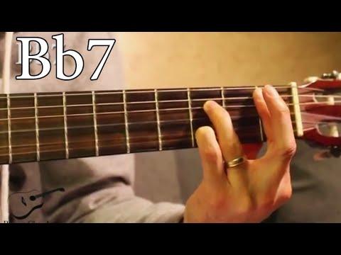 Bb7 Chord On Guitar Youtube