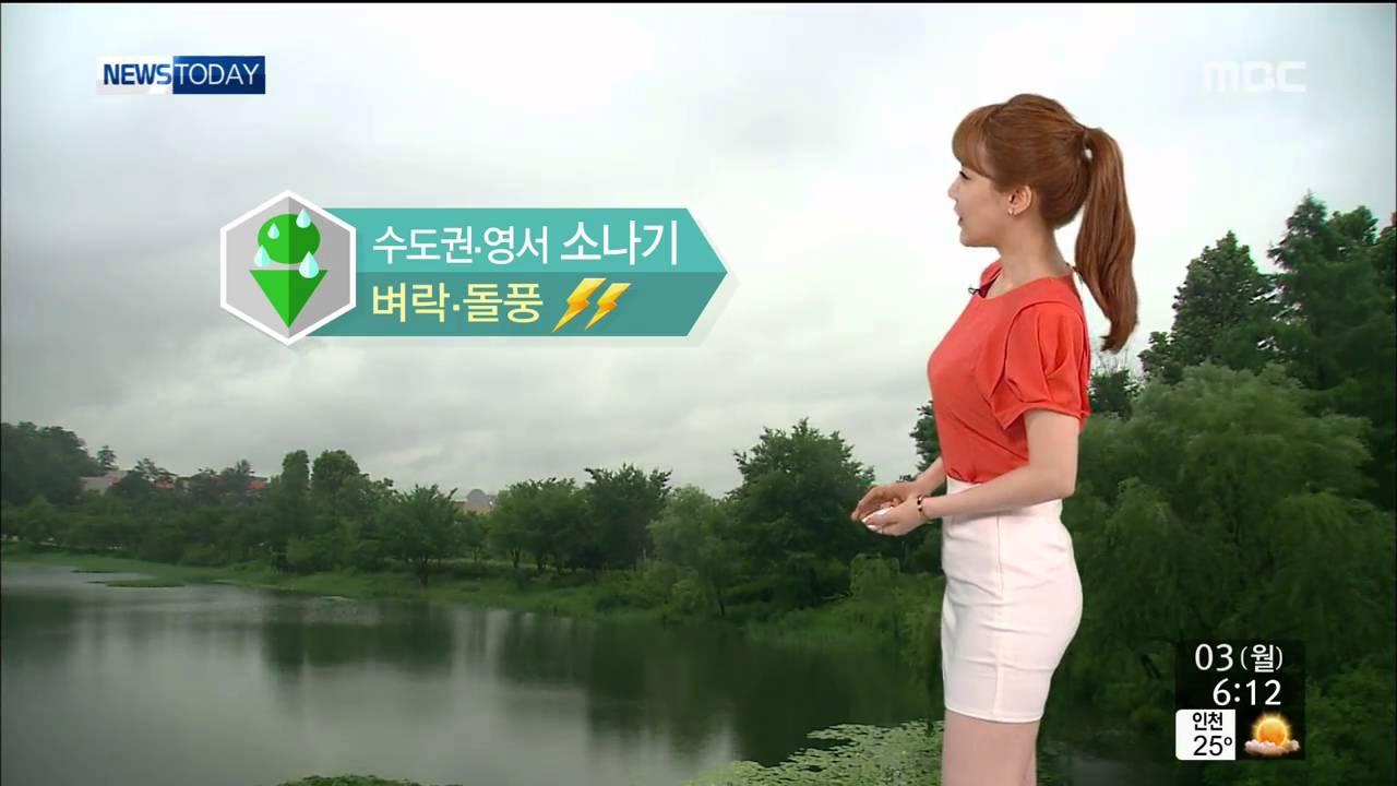150803 기상캐스터 이현승 韓国セクシーアナウンサーミニスカート sexy announcer anunciador atractivo