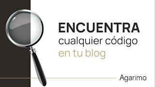 BUSCAR código HTML dentro de la PLANTILLA BLOGGER | TUTORIAL