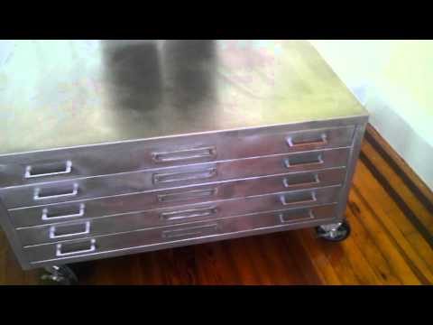 Upcycled Vintage Flat File Coffee Table