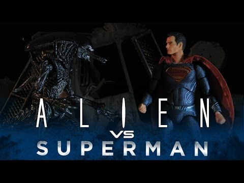 SUPERMAN VS ALIEN - STOP MOTION