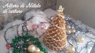 Diy Christmas decor: cardboard christmas tree - albero di Natale di cartone