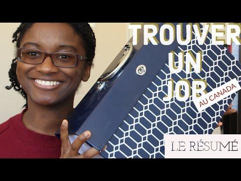 TROUVER Un JOB Au 🍁 CANADA : Le Résumé (étudiant)