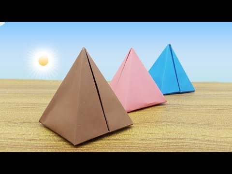How to make Paper Pyramid Easy | The Amazing Origami Pyramid Box for Kids