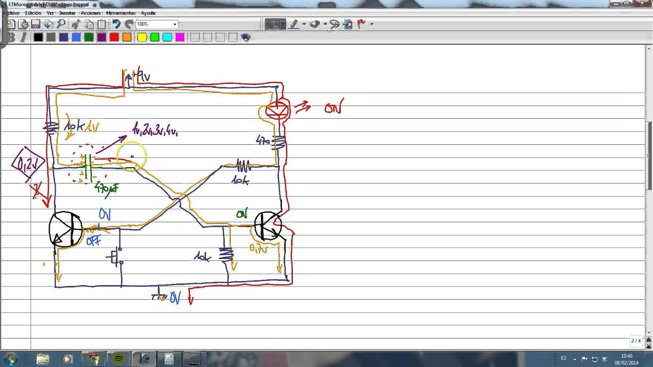 Electrotutorial 298 Op Amp Multivibrador Astable By Virtualedues Circuitmonostable Multivibrator Using 555 Timer Ic