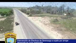 Serenazgo Victor Larco Herrera  Intervención por arrojo de desmonte