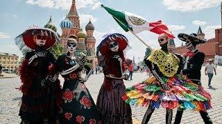 Increíble día de muertos en Moscú