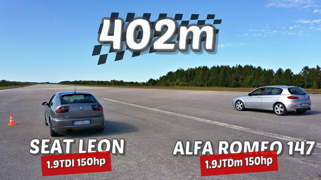Download 402m: Seat Leon 1.9 TDI vs Alfa Romeo 147 1.9 JTDm