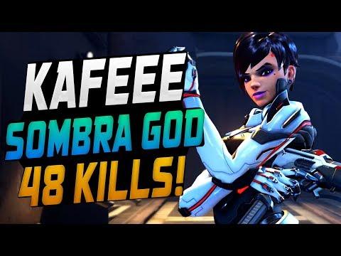 SOMBRA CAN BE STRONG - KAFEEE! INSANE AIM! [ OVERWATCH SEASON 12 TOP 500 ]