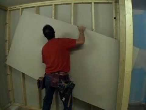 How To Hang Drywall Youtube