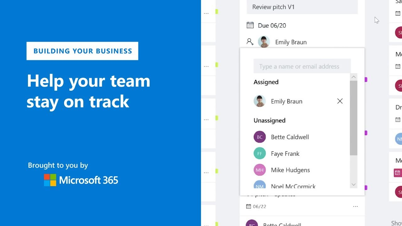 Team management made simple with Microsoft Planner