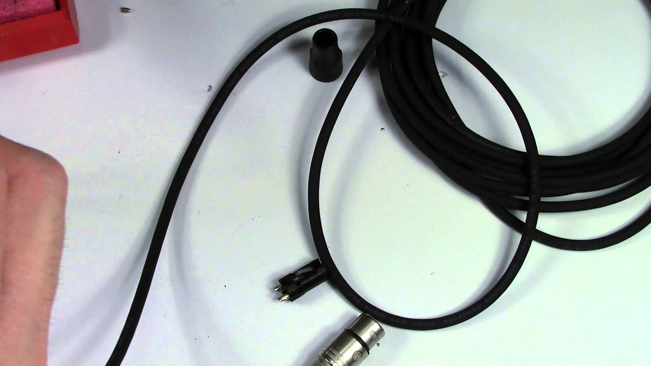 how to build mic cables and replace xlr connectors [ 1280 x 720 Pixel ]