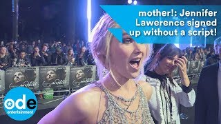 mother!: Jennifer Lawrence signed up without a script