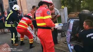 Accident grav cu victima incarcerata in judetul Satu Mare