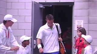 Karlovic, Berdych, Troicki and Monfils enter centre court (Coupe Rogers, Montréal, 2011)