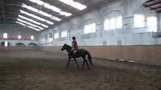 Lu Horseback riding in China