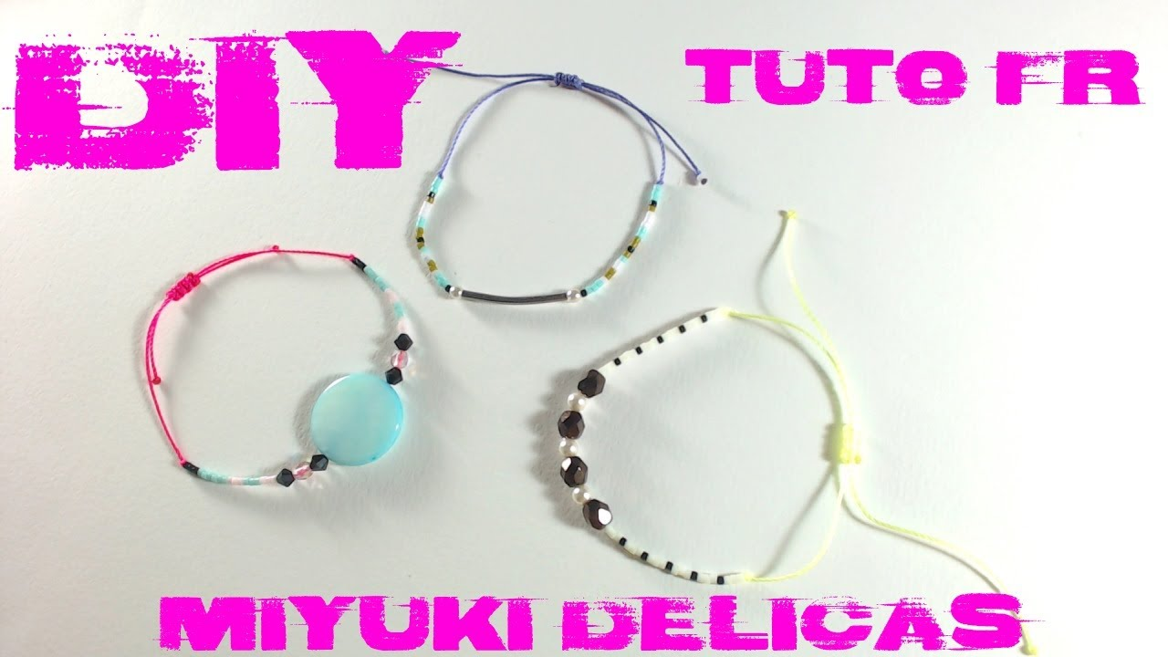 diy tuto bracelet fin perles miyuki delicas et fermeture noeud coulissant en macram youtube. Black Bedroom Furniture Sets. Home Design Ideas