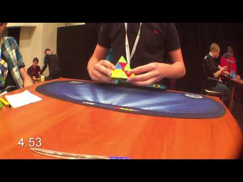 Official Pyraminx average-4.62 3rd place at Cube Factory League Final 2018
