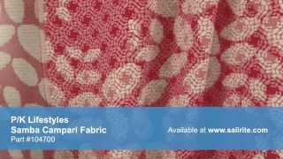 Video of P/K Lifestyles 652953 Samba Campari Fabric #104700