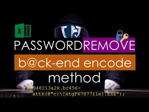 remove excel sheet password simple xml edit excel backend youtube