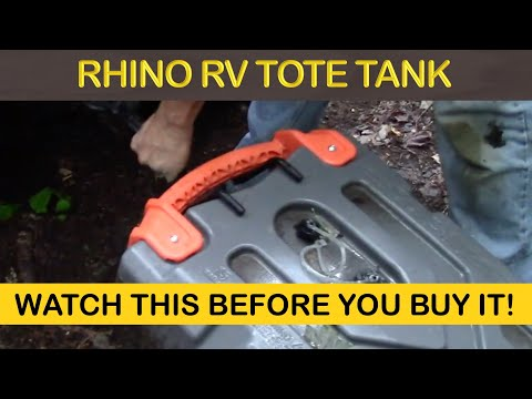 CAMCO RHINO PORTABLE RV WASTE TOTE TANK REVIEW - OFF GRID SEPTIC
