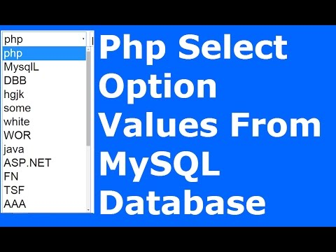 Php : How To Get Select Option Value From MySQL Database Using Php [ with source code ] #1BestCsharp