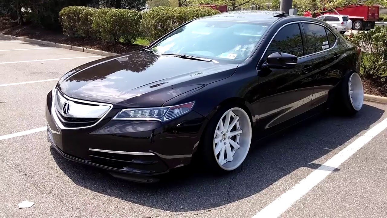 2015 Acura TLX slammed, bagged with insane camber Green ...
