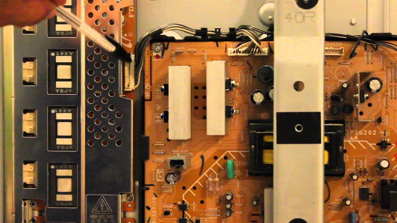 "Lcd Repair How To Repair 40"" Sony Lcd Tv With 4 Blinks - Youtube"