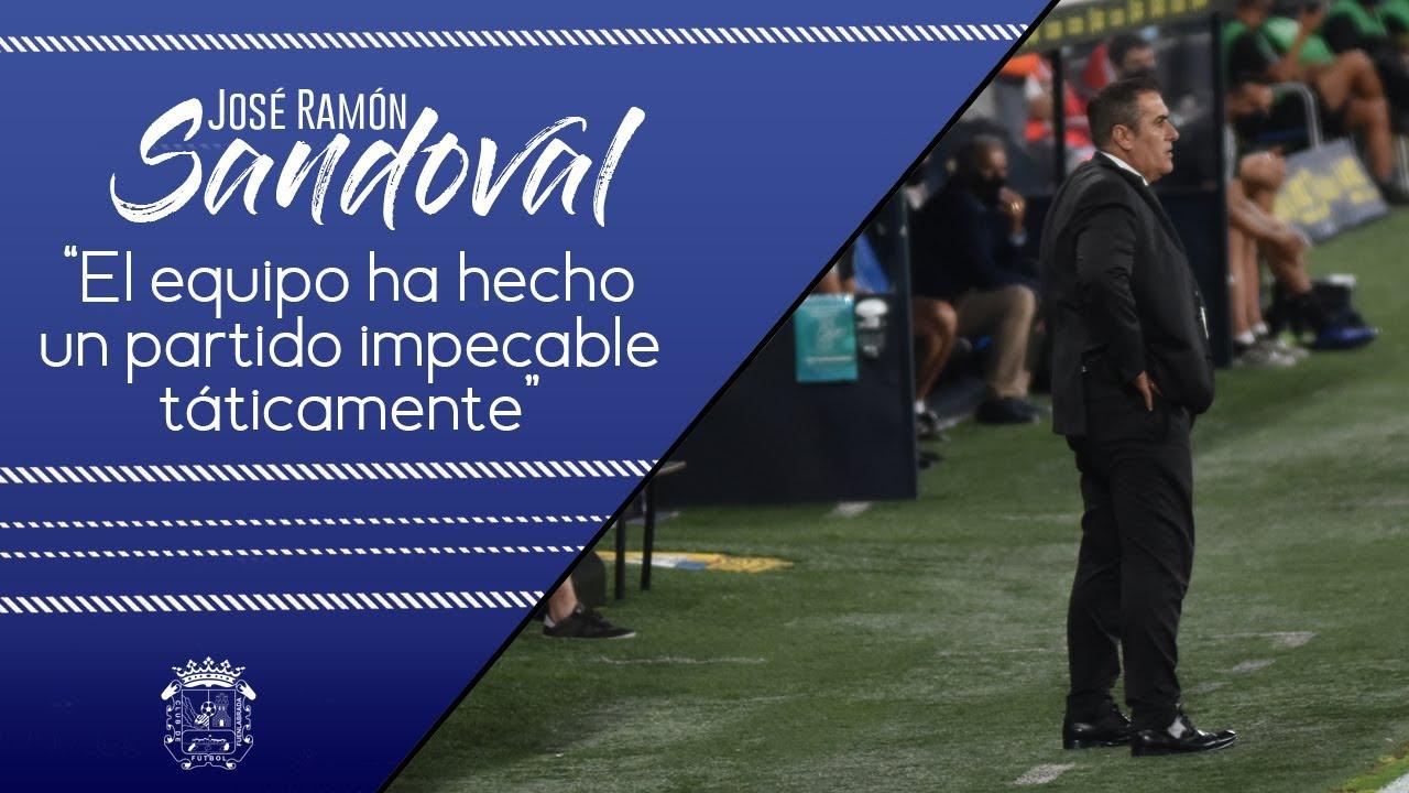 Cádiz CF 0-1 CF Fuenlabrada. Rueda de prensa José Ramón Sandoval