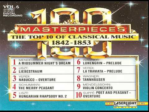 The Top 100 Masterpieces of Classical Music 【 Vol 6】10 Volume Set Digital Recording