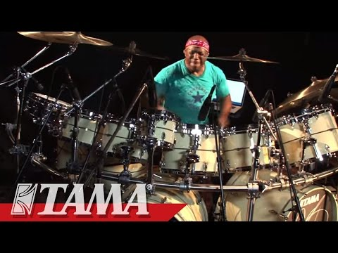 Billy Cobham on his return to TAMA and STAR drums.