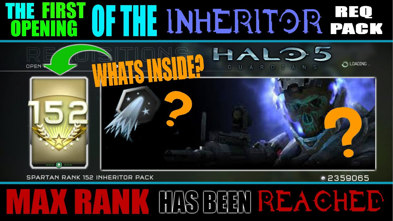 halo 5 opening the inheritor req pack sr 152 max rank has been