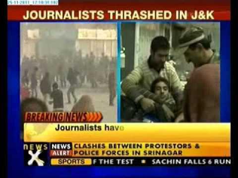Srinagar clash: Journalist thrashed, 3 injured