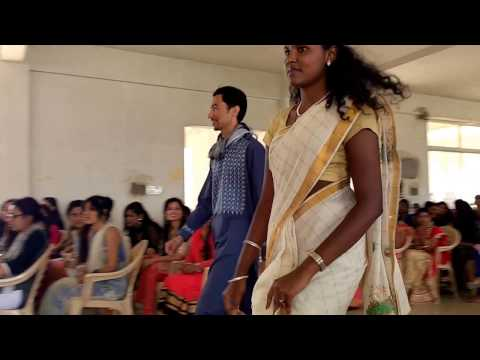 Fashion Show At Christian College,Bangalore Performed By BBA department on ethnic day