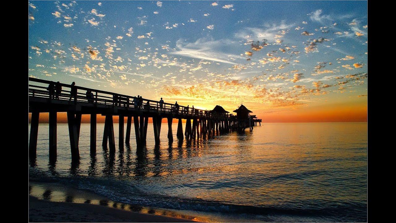 Watch on Naples Florida Pier Sunset