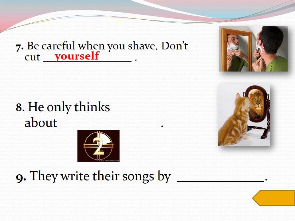 Fill in the blanks with reflexive pronouns - YouTube