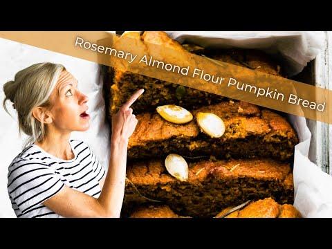 Rosemary Almond Flour Pumpkin Bread (Paleo)