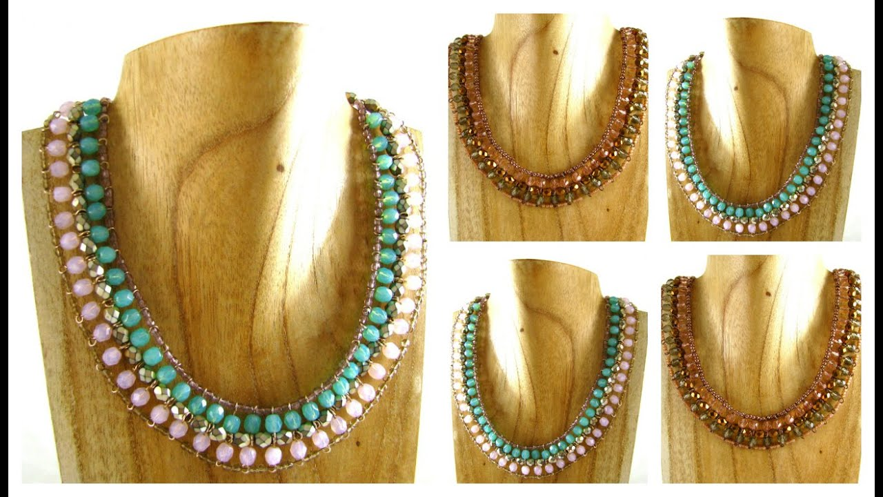 Statement Necklace Tutorial - YouTube