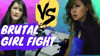 BRUTAL GIRL FIGHT - V2! Includes OUTTAKES And COMMENTARY