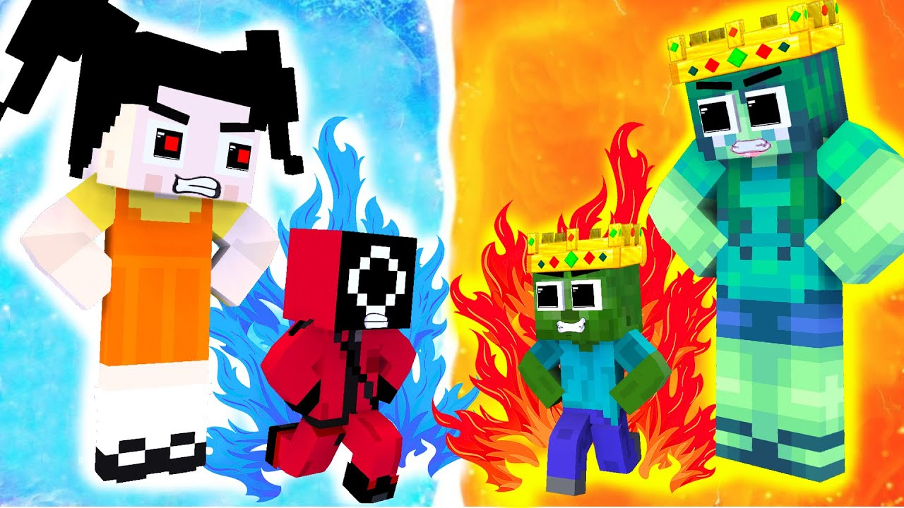 Monster School : Squid Game Parody Baby Zombie Help Poor Mother - Sad Story - Minecraft Animation