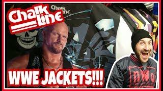 WWE Chalkline Jackets!!! Checking Out The Wrestling Shop Range