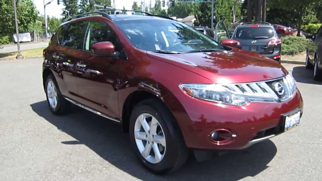 2009 Nissan Murano Burgundy Stock 5178a Walk Around