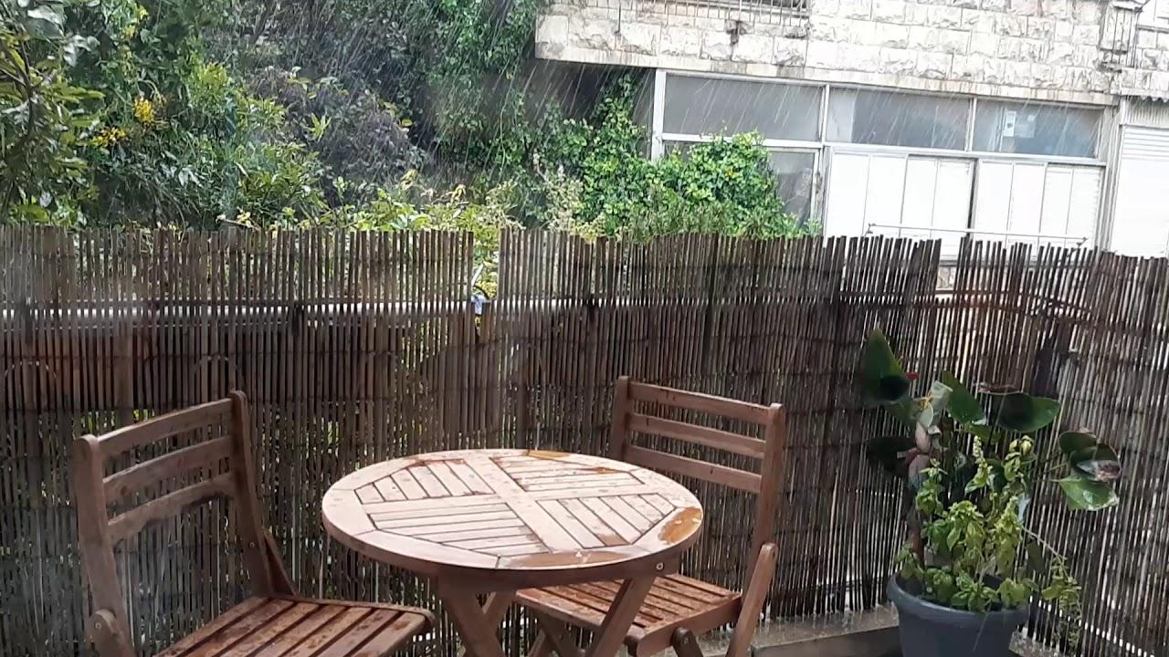 its raining hail!