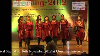 Yuva Tarang 2012 Central Zone Inter University Youth Festival  at Osmania University