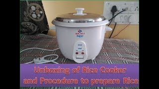 unboxing of rice cooker and review,Bajaj majesty rice cooker| how to prepare Rice| Technical Vijay